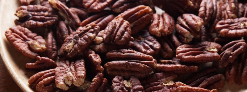 Roasted Pecans in a Bowl