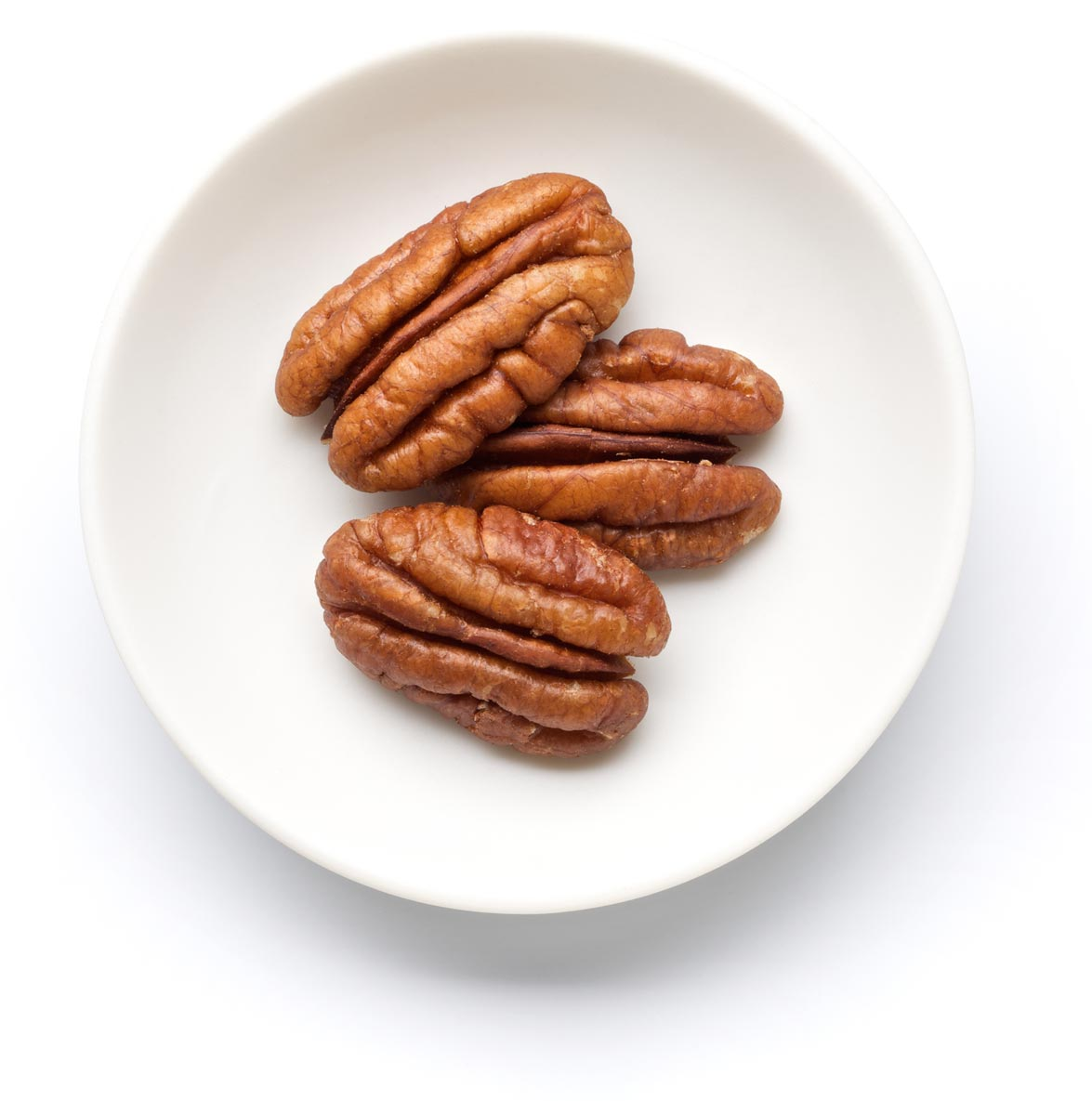 Shelled Pecans in a Plate
