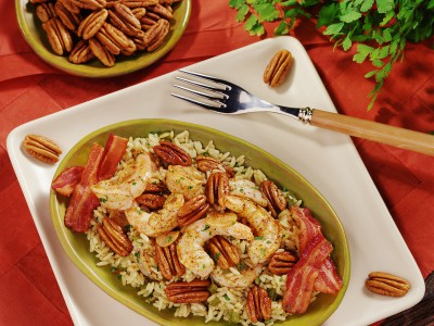 Low Country Pilau with Shrimp & Georgia Pecans
