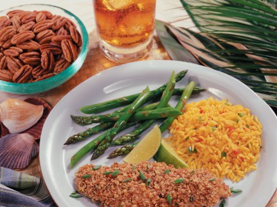 Spiced Snapper with Georgia Pecan Crust
