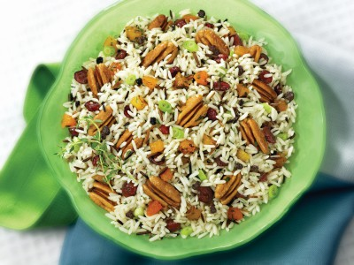 Wild Rice Salad with Georgia Pecans & Preserved Fruits