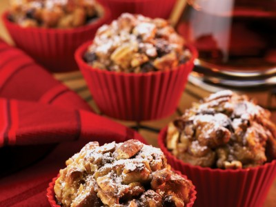 Pecan French Toast Muffins with Apple Butter Filling