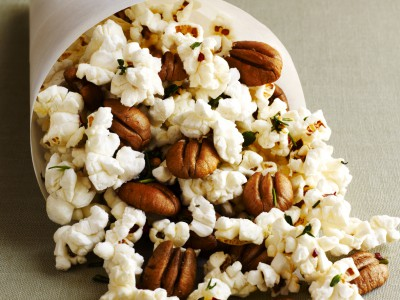 Georgia Pecan Popcorn with Rosemary and Thyme