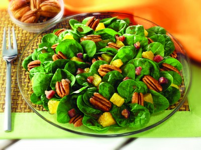 Spinach Salad with Oranges Georgia Pecans and Pancetta