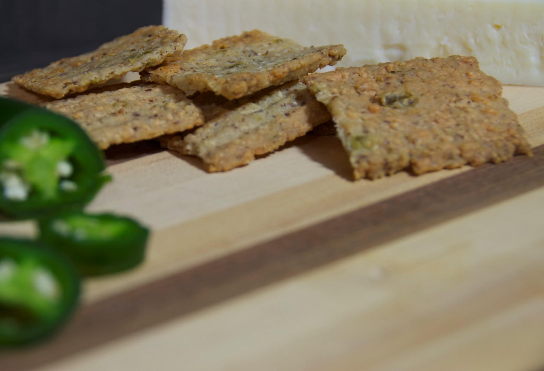 Asiago Jalapeños Pecan Cheese Straws/Crackers